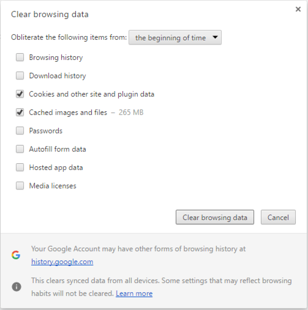 A few quick steps to fix ssl certificate errors in google chrome to resolve those errors you need to clean up all cookies and cached files on your google chrome to do so navigate to settings show advanced settings xflitez Gallery